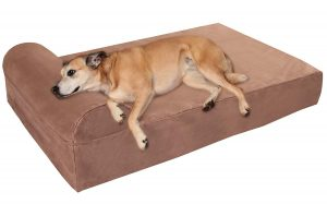 Big Barker 7 inches Pillow Top Headrest Edition Orthopedic Dog Bed
