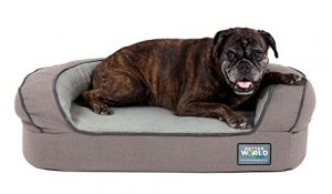 Better World Pets Super Comfort Waterproof Washable Bolster Pooch Bed