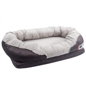 BarksBar Gray Snuggly Sleeper Orthopedic Dog Bed