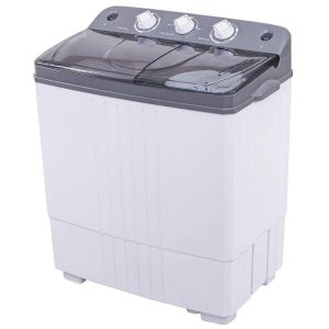 COSTWAY Mini Portable 16Lbs Twin Tub Washing Machine