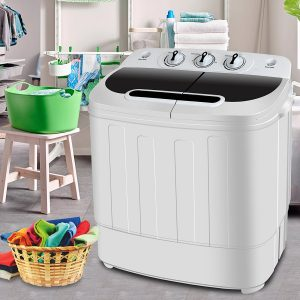 SUPER DEAL Compact Mini Twin Tub Portable Washing Machine