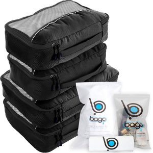 bago Packing Cubes 10pcs Set Travel Bags Organizer (Black)