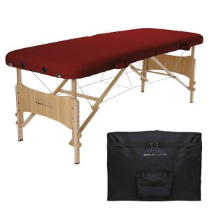 Saloniture Basic Folding Burgundy Massage Table