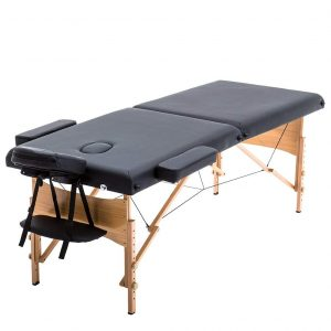Saloniture Professional Folding Blue Portable Massage Table