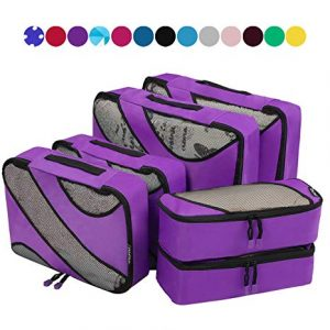 Six Set Packing Cubes Luggage Packing Organizers