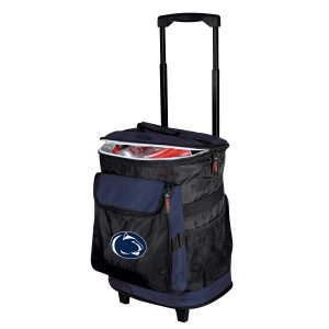 Logo Brands 48-Can Collegiate Rolling Cooler with Backpack Straps