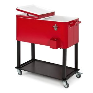 Best Choice Products Rolling Cooler 80-Quart Cart- Red