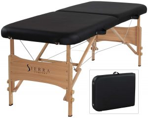 SierraComfort Basic Black Portable Massage Table