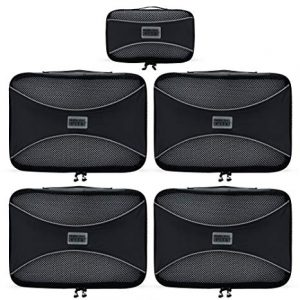 PRO Packing Cubes Organizers 5 Piece Travel Cube Set
