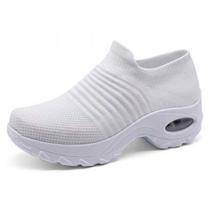 STQ Breathe Mesh Slip-on Women Walking Shoes