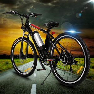 Kemanner 26 inch 21 Speed Electric Mountain Bicycle