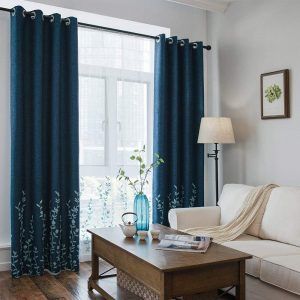 Melodieux Flower Pocket Top Embroidery Sheer Curtains for Living Room