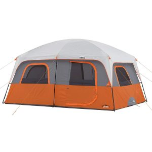 CORE Ten Person 14' x 10' Straight Wall Cabin Tent