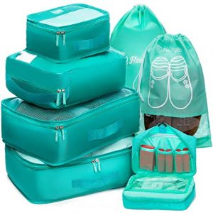Free Rhythm-Packing Cubes Travel Set seven Pc Cube Organizer