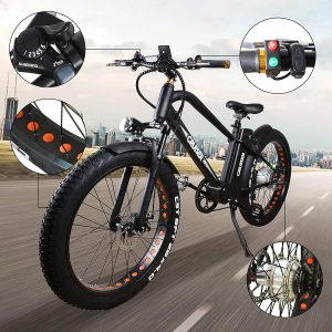 NAKTO 26 inches 500W Electric Mountain Bicycle