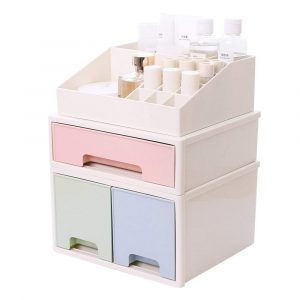 BaiNa Plastic Desk Organizer for Cosmetic Brushes, Office Stationery, and Nail Supplies