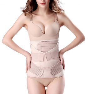 ChongErfei Postpartum 3 in 1 Belly Wrap Waist Shapewear