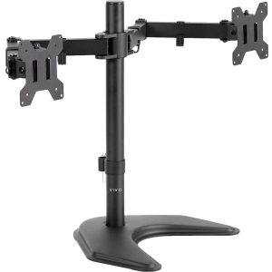 VIVO Dual LED Monitor Free Standing Desk Mount