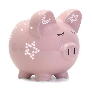 Child to Cherish Piggy Bank with Night Light, Pink