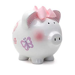 Child to Cherish Butterfly Piggy Bank Large