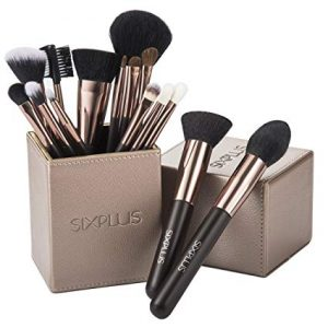 SIXPLUS 15 Pieces Coffee Makeup Brush Set (coffee)