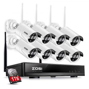 ZOSI 8 Channel 960P NVR Wireless Security Cameras System with 8 Cameras