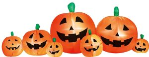 Airflowz Inflatable 8' Pumpkin Halloween Decoration Autumn Fall Harvest