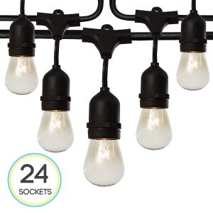 Fulton Illuminations S14 24 Bulbs Outdoor String Lights