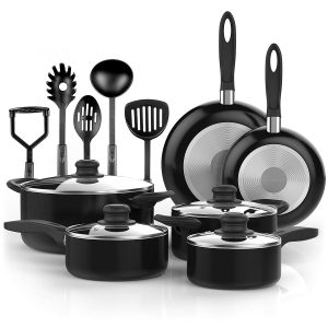 Vremi Nonstick Cookware 15 Piece Set; Oven Safe