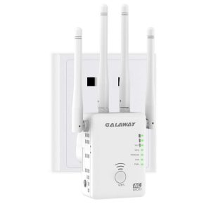 GALAWAY Mini Router Wi-Fi Extender Repeater4 External Antennas