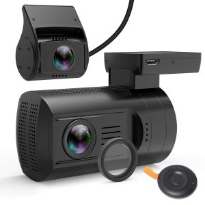 Veckle Dual Dash Cam, CPL Filter Veckle Mini 0906 Dual Channel Camera Recorder