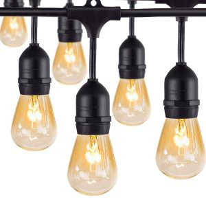AMLIGH Outdoor Commercial String Lights
