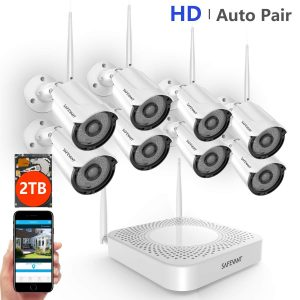 SAFEVANT 8PCS 960P Indoors&Outdoors 65ft Night Vision,2TB HDD Camera System