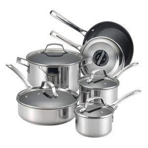 Circulon Genesis 10-Piece Stainless Steel Nonstick Cookware Set