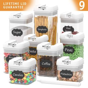 HOMEGWARTS- Airtight 9 Piece Set Food Storage Containers