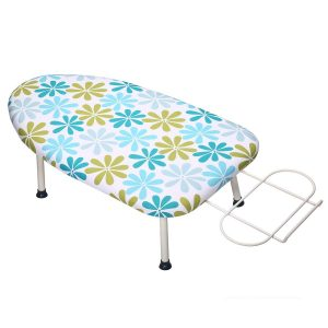KINGSO Mini Four-Leg Iron Rest and Foldable Tabletop Ironing Board