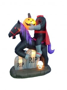 BZB Goods 7 Ft Lighted Halloween Inflatable Headless Horseman