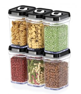 Dwellza Kitchen Airtight 6 Piece Set Food Storage Containers