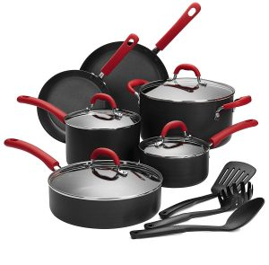 Finnhomy Super Value Hard-Anodized 13-Piece Aluminum Cookware Set