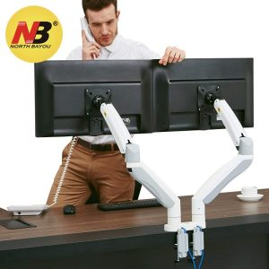 North Bayou Dual-Monitor Desk Mount Stand Full Motion Swivel