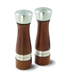 COLE & MASON Oldbury Wood Salt and Pepper Grinder Set