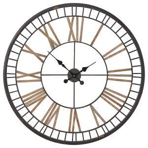 Stone and Beam Vintage Style Decorative 32 Inches Metal Wall Clock