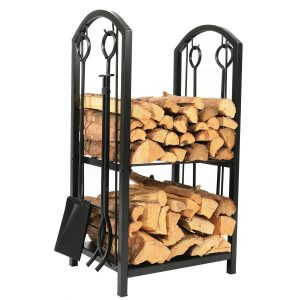 1.Go 18 Wide x 27.5 Inch High Iron Firewood Log Rack