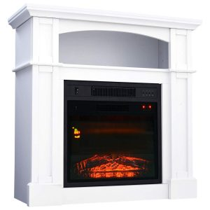 HOMCOM 32 inches 1500W Freestanding Electric Fireplace- White
