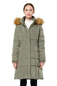 Orolay Women's Winter Jacket with Faux Fur Trim- Puffer down Coat