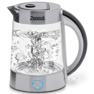 Zeppoli Electric Kettle (1.7L) Cordless (BPA Free) Hot Water Kettle