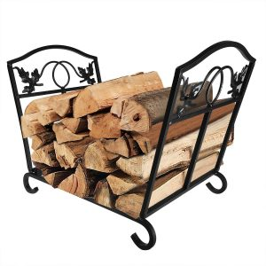 AMAGABELI GARDEN & HOME Wrought Iron Indoor Fire Wood Log Holder