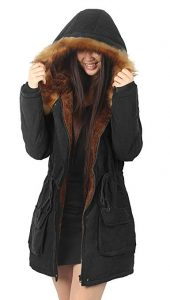 iLoveSIA Women's Warm Coats Parkas- Hooded with Faux Fur Jackets
