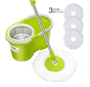 HomeHelper Microfiber Bucket Floor Spin Mop
