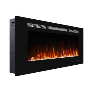 Valuxhome Armanni 42 inches Wall Recessed Electric Fireplace